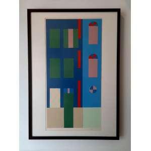 Alfredo Volpi - Fachada - Gravura original -Medidas 100 x 70 cm assinada no canto inferior direito -