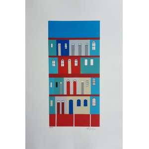 ALFREDO VOLPI - Fachada 1 - serigrafia com edição 32/50 - Assinado no canto inferior direito - Medidas 40 x 26 cm