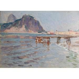 LEOPOLDO GOTUZZO - óleo sobre cartão - Medidas 24 x 33 cm - assinado no canto inferior esquerdo - Datado e localizado Rio 1923