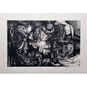 Roberto Burle Marx - Rino Levi - Litogravura com edição 150/200 - assinada e datada de 1979 - Medidas 45,5 cm x 63,5 cm
