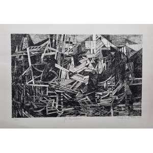 Roberto Burle Marx - José Piquet Carneiro - Litogravura com edição 150/200 - assinada e datada de 1979 - Medidas 45,5 cm x 63,5 cm