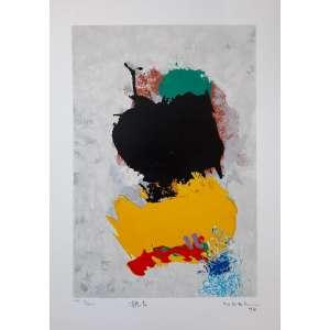 Manabu Mabe- Composição com fundo acinzentado - Serigrafia P.A. edição 9/36 - Medida interna 40 x 27 - Medida externa 50 x 35 cm - 1994 - Assinado e datado 1994
