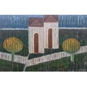 Mario Rubinski - Acrílica sobre madeira industrializada - Medidas 40 x 60 cm - assinado no cid