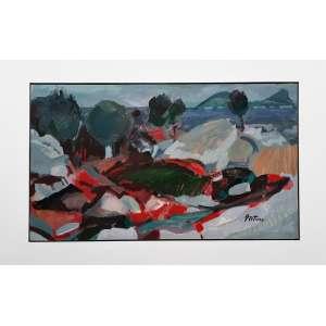 Silvio Pléticos - Acrílica sobre madeira industrializada - Medidas 40 x 69 cm - assinado no cid