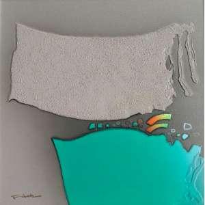 Fukuda - Técnica mista sobre tela - Medidas 50 x 50 cm - acie