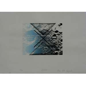 """ANNA BELLA GEIGER – Rara Litografia em relevo –Datado de 1973 – 45 anos -Titulado """"Lunar"""", numerado 35/50. Assinado CID. Medidas : 55x75cm."""