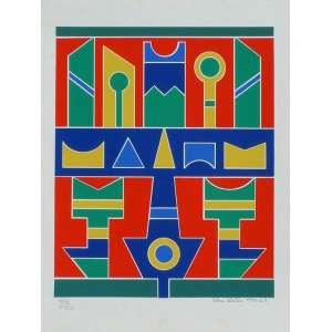 Rubem Valentim - Gravura - Serigrafia - assinado, datado de 1990 e localizado São Paulo. Medidas 34x26cm