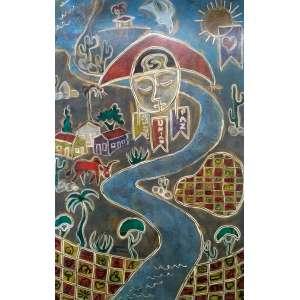 Gerardo de Souza - OST - Assinado e localizado Rio, 2004 - Medidas 120 x 80 cm
