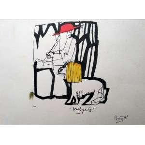 Poty Lazzarotto - Vulgata - Nanquim - Medidas 22 x 31 cm - Assinado e datado de 1991