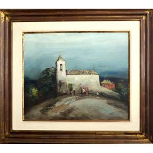 Domenico LAZZARINI – Pintura sobre Tela – Assinado e datado de 1973.Medidas da Pintura65x45cm. Medidas com a Moldura: 70x80cm<br />