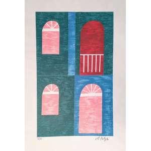 Alfredo Volpi - Fachada - gravura 36/50 - Medidas 50 x 37 cm