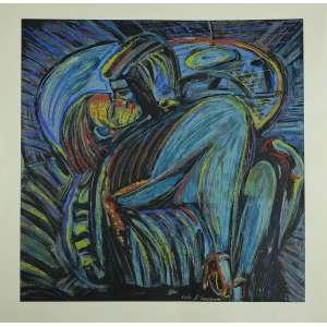 Rubens Gerchman - Bela Gravura em serigrafia com sobreposição de camadas de tinta.Assinada ao centro e numerada 51/60. Medidas 70 x 70 cm