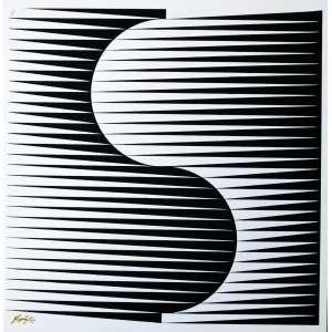 Yves Serpa - Optical art - Gravura assinada cie - Medidas 47 x 48 cm. Pequena edição 4/25. Excelente estado de conservação.