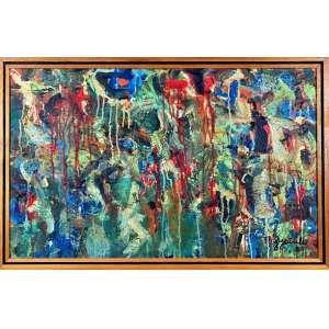 JORGE GUINLE – Óleo sobre Tela, assinado e datado de 1980 -Medidas 50 x 80 cm - Acompanha Certificado de Autenticidade do Sr. Marco Aurélio Cardoso Rodrigues