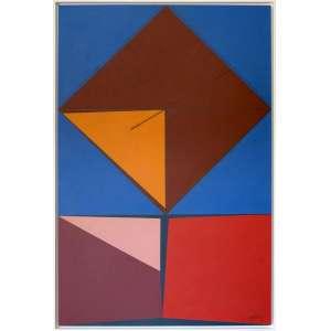 Abelardo Zaluar – Pintura. Tinta acrílica sobre tela esobre madeira. Assinado e datado de Março de 1976. Medidas: 87 x 57 cm