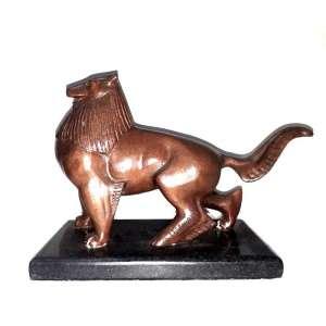 """Alfredo Ceschiatti – Escultura em bronze patinado representando """"Animal Mitológico"""" – assinado na peça e datado de 1957 - Medidas: 21 x 29 cm"""