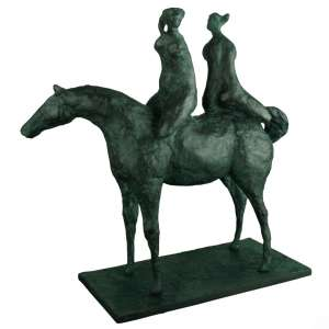 Carybé – Amazonas – Escultura em bronze patinado, assinadoe datado na peça/84, com certificado de autenticidade emitido pelo Instituto Carybé em 2014. Medidas: 38cm altura