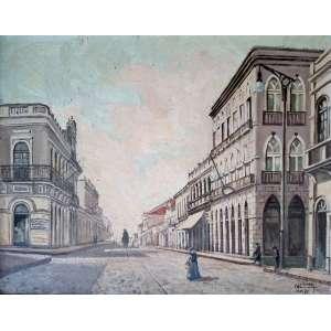 Augusto Conte - Banestado Rua XV de Novembro - Medidas 40 x 35 cm