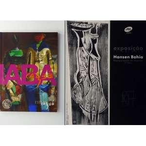 """HANSEN BAHIA - Catálogo de exposição itinerante de 2009.<br />260g; 28x22 cm; 40 págs.<br />CARYBÉ – """"Para comemorar os 75 anos do encontro de Hector Julio Paride Bernabó com sua casa, a Bahia, o Instituto Carybé lança em forma de livro, esta estória de amor, que não poderia acontecer em nenhum outro lugar do mundo.""""<br />200g; 21x15 cm; 95 págs.<br /><br />"""