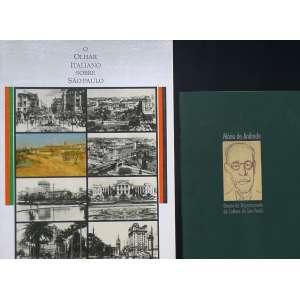 O OLHAR ITALIANO SOBRE SÃO PAULO / MÁRIO DE ANDRADE - Dois catálogos expográficos: o primeiro com reproduções de obras de São Paulo antiga e o segundo com cartas de Mário de Andrade, quando era Diretor do Departamento de Cultura de São Paulo.
