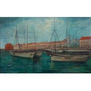 FÉDORA DO REGO MONTEIRO - 120 X 75 CM. O.S.T. (1889-1975) PORTO DE RECIFE. A.C.I.D.