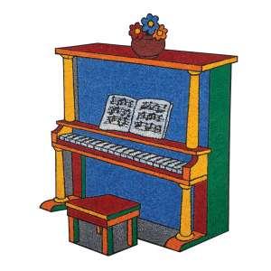 CLAUDIO TOZZI - 113 X 84 CM. A.S.T. 1985. PIANO. ASS.VERSO.