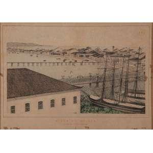 FRANZ HEINRICH CARLS - 35 X 25 CM. LITHOGRAFIA (1827/1909). VISTA DOS CASARÕES DE RECIFE. A.C.I.E. CIRCA 1878- ARTISTA SUÍÇO CONSIDERADO O MELHOR IMPRESSOR LITÓGRAFO DA HISTÓRIA DE PERNAMBUCO.