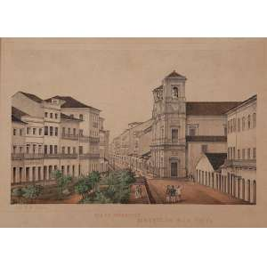 FRANZ HEINRICH CARLS - 35 X 25 CM. LITHOGRAFIA (1827-1909). VISTA DE RECIFE. A.C.I.D. CIRCA 1878- ARTISTA SUÍÇO CONSIDERADO O MELHOR IMPRESSOR LITÓGRAFO DA HISTÓRIA DE PERNAMBUCO.