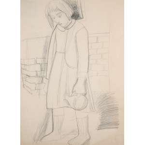 Yolanda Mohalyi - Grafite sobre papel, Menina, 65x47cm. Autenticada pelo Espólio