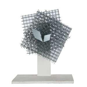 Arthur Luiz Piza - 15 x 12 x 06 - Arame Galvanizado e zinco - Ass. Verso