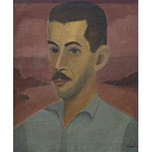 José Pancetti - Retrato de Hernani - 46 x 38 - Óleo sobre tela - Acid - Dec. 40