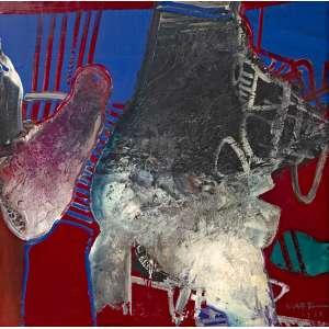 Manabu Mabe - Abstrato - 51 x 51 - Óleo sobre tela - Acid - 1980