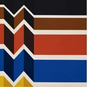 Mauricio Nogueira Lima - Geometrico - 71 x 71 - Acrilico Sobre tela - Ass. Verso - 1990 - Com certificado do Instituto