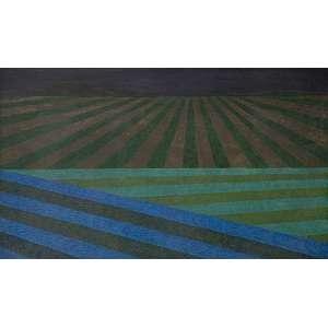 ALDIR MENDES - 'LAVOURA 4'' - 65 X 110 CM - TEMPERA SOBRE TELA - 1981 - ASS. VERSO