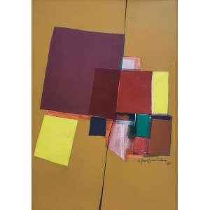 Silvio Oppenheim - Sem título. Acrílica sobre tela, 130x90 cm, 1980, A.C.D. Com moldura<br />