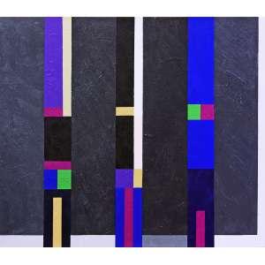 Eduardo Sued - Sem título. Acrílica sobre tela, 70x80 cm, 2013, A.V. Com moldura, adquirido direto do artista<br />