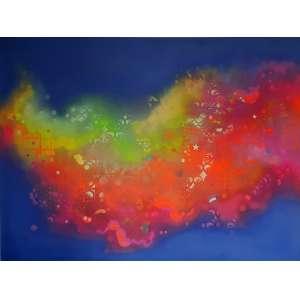 Zezão - Psicodélico. Spray sobre alumínio, 150x200 cm, 2012, A.V.<br />