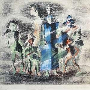 Candido Portinari - Retirantes. Giclée sobre tela, 60x60 cm, sem data, A.C.I.D (assinatura da obra original) Com moldura<br />