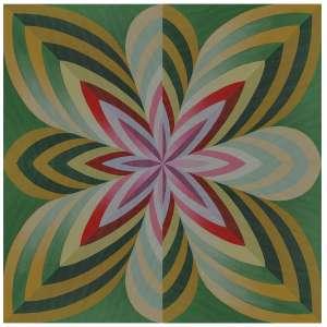 Yuli Geszti - Políptico. Acrílica sobre tela, 60x60 cm (30x30 cm cada), 2020, A.V.<br />