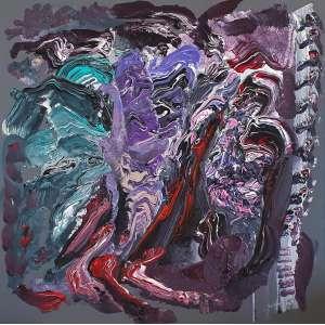 Cukier - Abstração cromática. Acrílica sobre tela, 90x90 cm, 2018, A.V. Sem moldura