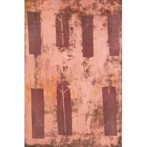 Alfredo Volpi - Fachada. Matriz de gravura em cobre, 71x47 cm, déc 80. Com certificado do editor de gravuras do Volpi