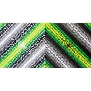Cukier - O mistério das cores... quando a luz encontra a escuridão. Acrílica sobre tela 60x120 cm - 2014 - A.V. Com Moldura