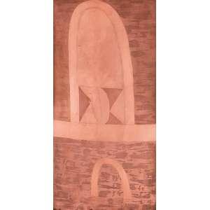 Alfredo Volpi - Fachada. Matriz de gravura em cobre, 68,5x34,5 cm, déc 80. Com certificado do editor de gravuras do Volpi