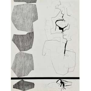 Antonio Lizárraga - Sem título. Nanquim sobre papel, 69x52 cm, 1966, A.C.I.D. Com moldura