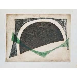 Arthur Luiz Piza - Grande Moitié - 11-50. Gravura em metal, 50x65,5 cm, 1959, A.C.I.D. Sem moldura