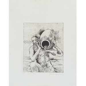 Paulo Von Poser - Aquário - P.E. Gravura em metal, 34x27 cm, 2010, A.C.I.D. Sem moldura