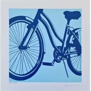 Kleber Ventura - Bicicleta - 21-25. Serigrafia, 50x50 cm, sem data, A.C.I.D. Sem moldura