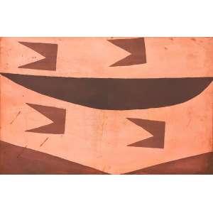 Alfredo Volpi - Vela e bandeirinhas 2. Matriz de gravura em cobre, 47x72 cm, déc 80. Acompanha certificado de autenticidade do editor de gravuras do artista.