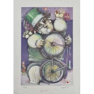 Alexandre Rapoport - O ciclista - P.A. Fineart, 51x38 cm, 1999, A.C.I.D. Sem moldura