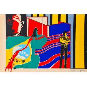 Carlos Vergara - 5 problemas - 5 estampas - 38-200. Serigrafia 31x46 cm, 1967, A.C.I.D. Sem moldura